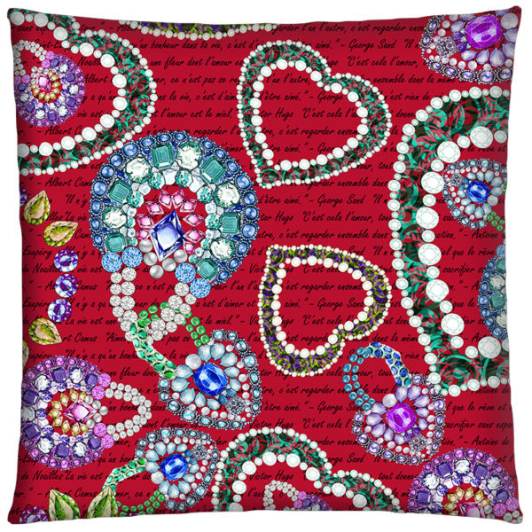 Coussin Rubis