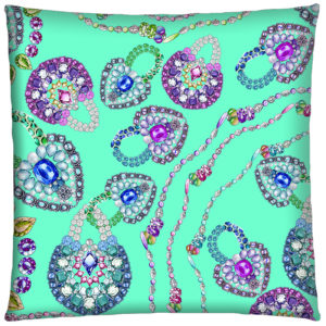 Coussin Saphirs